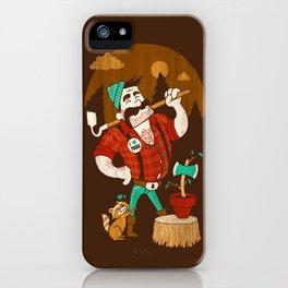Green Thumberjack iPhone Case