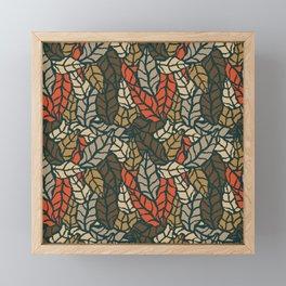 Nature leaves 004 Framed Mini Art Print