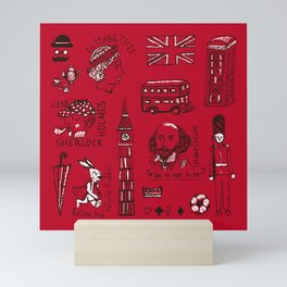 English pattern Mini Art Print