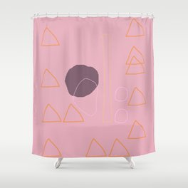 Mr. Gulliver and his Orange Tent Shower Curtain