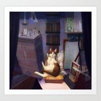 James the Cat Art Print