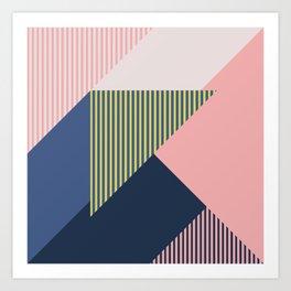 Color Blocking Minimal 1 Art Print