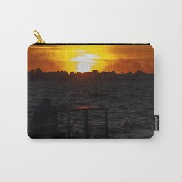 Man fishing at seaside in Izmir during sunset Carry-All Pouch