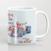 f1 Mugs featuring F1 Ferrari-Kimi Räikkönen by dareba