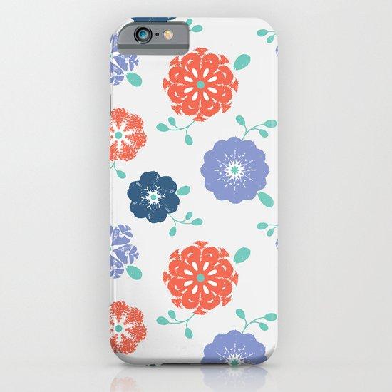 Block Print Flowers iPhone & iPod Case