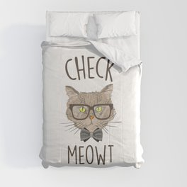 Check Meowt, Funny Cute Cat Comforters