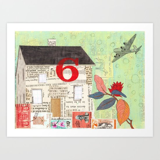 House Number 6 Art Print