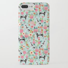 Great Dane dog breed florals mint pattern print for dog owner with great dane must have gifts iPhone Case