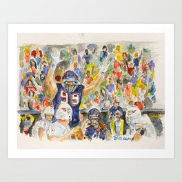 JJ Watt Football Player Art Print