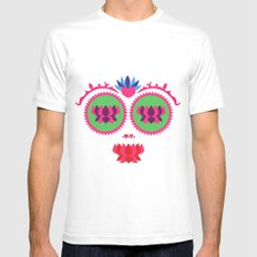 Indian face MEDIUM Mens Fitted Tee White