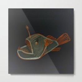 angler fish negative Metal Print