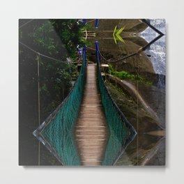 Swinging Bridge -Guam Metal Print