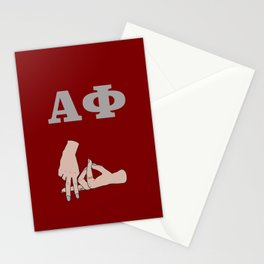 A phi alpha sorority sign Stationery Cards