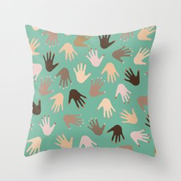 hands on hands Throw Pillow
