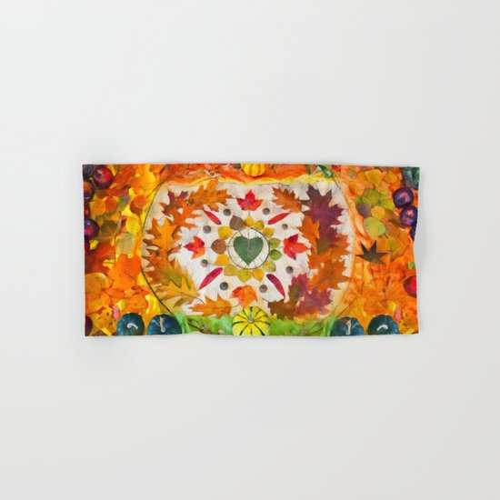 Autumn mandala Hand & Bath Towel
