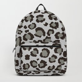 Grey Leopard Print | Just Gray | Neural Grey Backpack