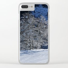 Hoarfrost And Snow Clear iPhone Case