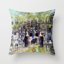Summer space, smelting selves, simmer shimmers. 26 Throw Pillow