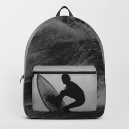 Surf black white Backpack