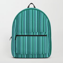 Turquoise striped . Backpack
