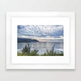 Hanalei Bay Sunset Framed Art Print
