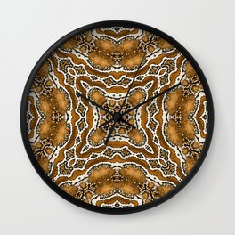abstract jewel gold Wall Clock