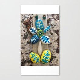 Yellow Rock Flower Canvas Print