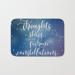 My Thoughts Are Stars Bath Mat