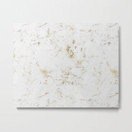 Marble Gold Mine Metal Print
