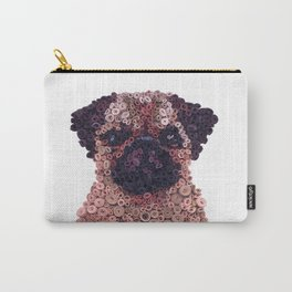 PUG- Hand-Rolled Paper Art Carry-All Pouch