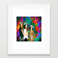 haim Framed Art Prints featuring HAIM by ♡♡Transparent Mess♡♡