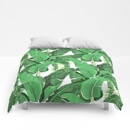 banana leaves brazilliance Comforters