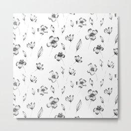 Handmade Flower Pattern Metal Print