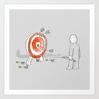 Off Target Art Print