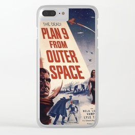 Vintage Classic Movie Posters, Plan 9 From Outer Space Clear iPhone Case