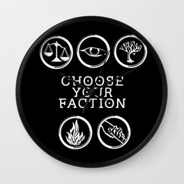 Divergent - Choose Your Faction (White) Wall Clock