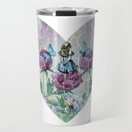 Alice In Wonderland - Wonderland Garden - Heart Shape Travel Mug
