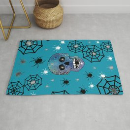 Creepy Crawling Spiders Rug