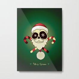 Santa skull Metal Print