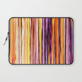 orange yellow purple abstract striped pattern Laptop Sleeve