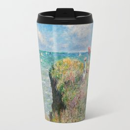 1882-Claude Monet-Cliff Walk at Pourville-66 x 82 Travel Mug