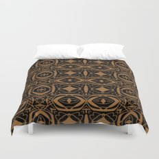 Black and Bronze 2666 Duvet Cover