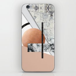 Collage II ( marble, copper, volcanic rock) iPhone Skin