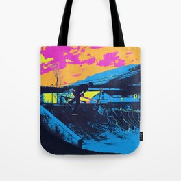 Tail Whip Scooter Stunt Tote Bag