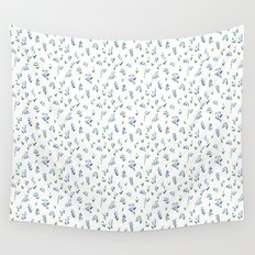 blue lily subtle pattern Wall Tapestry