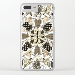 Black and White Mandala Clear iPhone Case