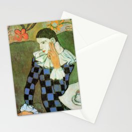 Pablo Picasso Harlequin Leaning on His Elbow Stationery Cards