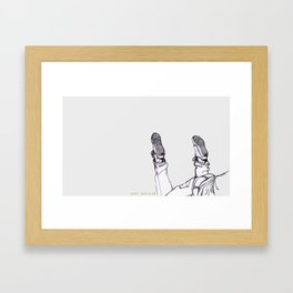just chilling Framed Art Print