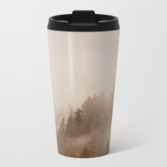 FOG IN THE MORNING Metal Travel Mug