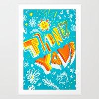 Thank you ! Art Print